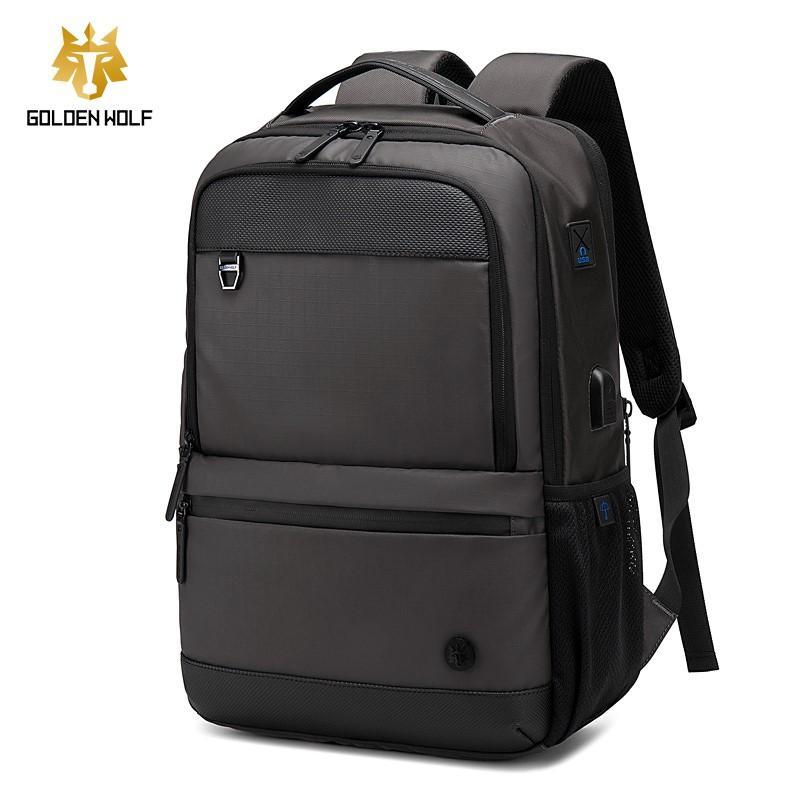 Mochila Notebook até 15.6 com entrada USB Executiva - Golden Wolf GB00402 Grafite  - Diafilme Materiais Fotográficos