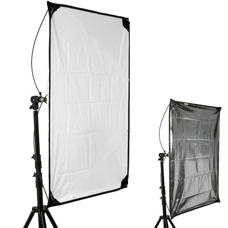 Rebatedor Retangular Prata Branco Estúdio - 80x150cm com Tripé LS260  - Diafilme Materiais Fotográficos