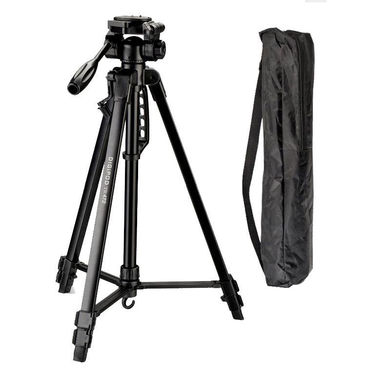 Tripé Câmera DSLR Vídeo - Digipod TR 472 - 1,70m  - Diafilme Materiais Fotográficos