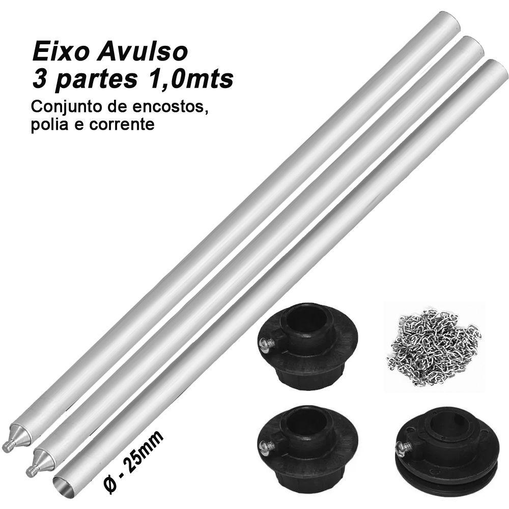 Eixo Suporte Fundo Infinito - Eixo, polias e corrente - 3,0m  - Diafilme Materiais Fotográficos