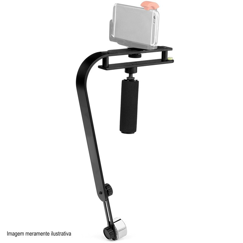 Estabilizador de Filmagem Steadycam DSLR Video Smartphone GoPro - CSM-104 - 2,0kg  - Diafilme Materiais Fotográficos