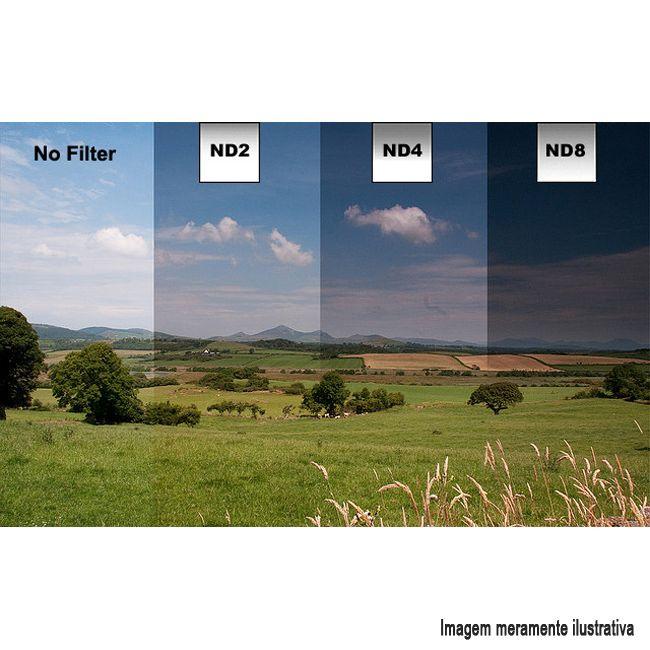 Filtro Densidade Neutra Gradual GND8 - Fotobestway 55mm  - Diafilme Materiais Fotográficos