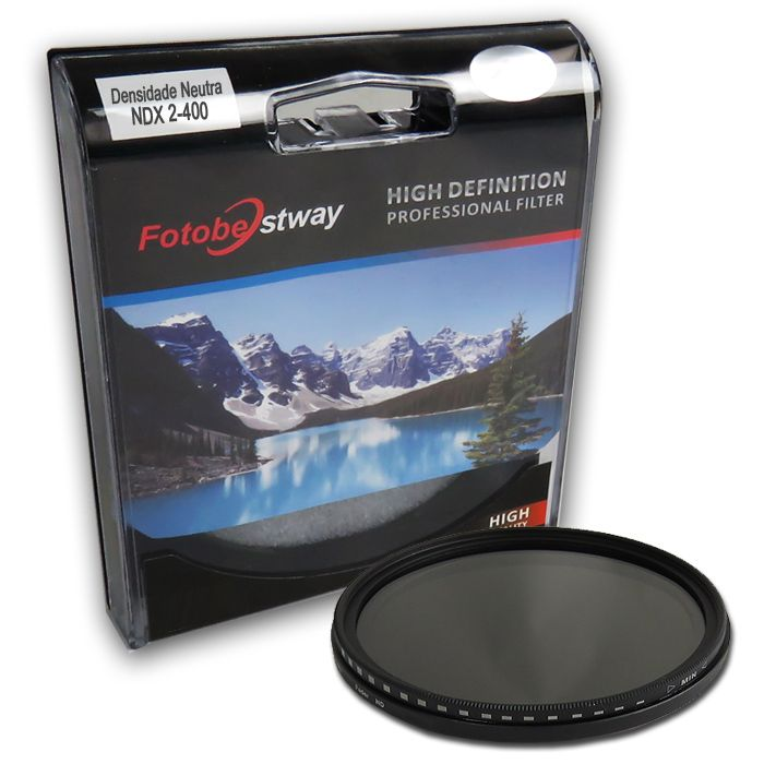 Filtro Densidade Neutra Vario NDX2-400 - Fotobestway 72mm  - Diafilme Materiais Fotográficos