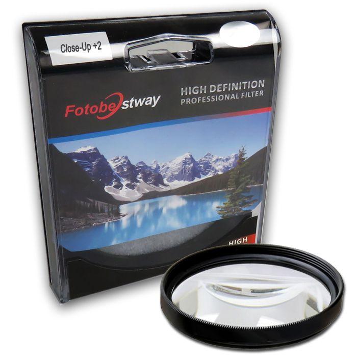 Filtro para Câmera Close Up +2 - FotoBestway 62mm  - Diafilme Materiais Fotográficos