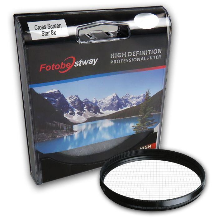 Filtro para Câmera Cross Screen Star 8x - Fotobestway 7mm  - Diafilme Materiais Fotográficos