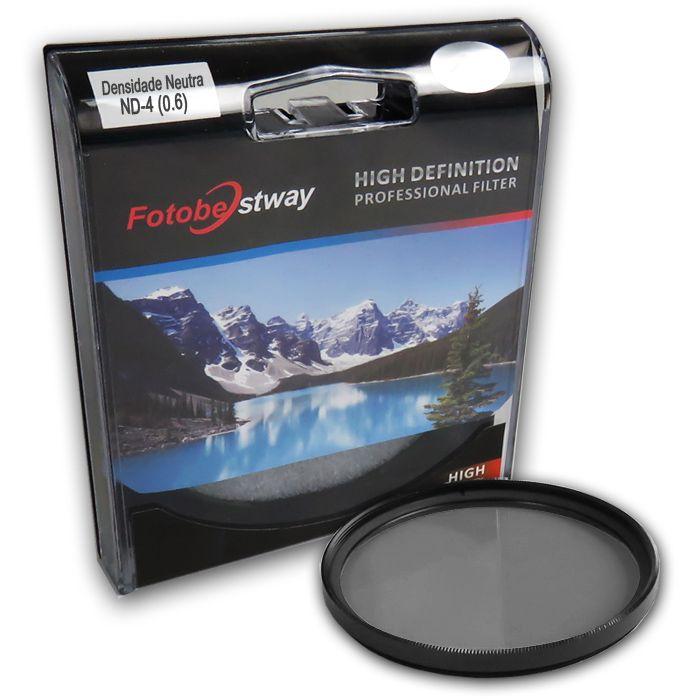 Filtro para Câmera Densidade Neutra ND-4 - Fotobestway 77mm  - Diafilme Materiais Fotográficos