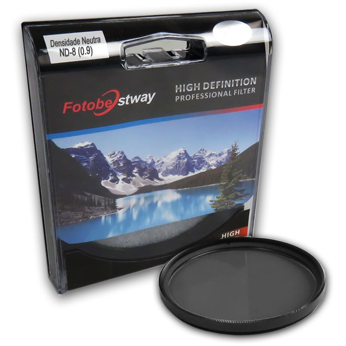 Filtro para Câmera Densidade Neutra ND-8 - Fotobestway 58mm  - Diafilme Materiais Fotográficos