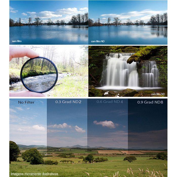 Filtro para Câmera Densidade Neutra ND-8 - Fotobestway 72mm  - Diafilme Materiais Fotográficos