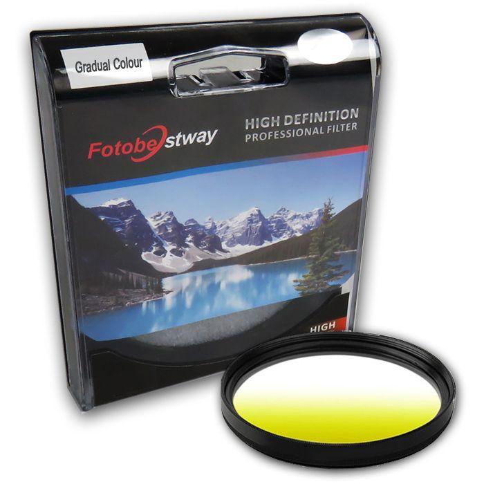 Filtro para Câmera Gradual Amarelo - Fotobestway 58mm  - Diafilme Materiais Fotográficos