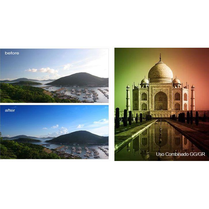 Filtro para Câmera Gradual Azul - Fotobestway 52mm  - Diafilme Materiais Fotográficos