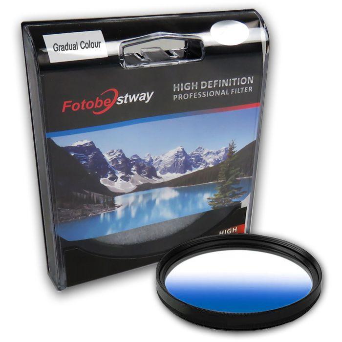 Filtro para Câmera Gradual Azul - Fotobestway 67mm  - Diafilme Materiais Fotográficos