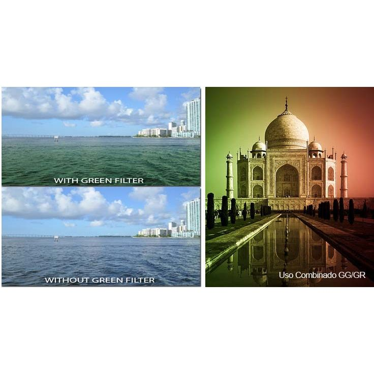 Filtro para Câmera Gradual Verde - Fotobestway 58mm  - Diafilme Materiais Fotográficos