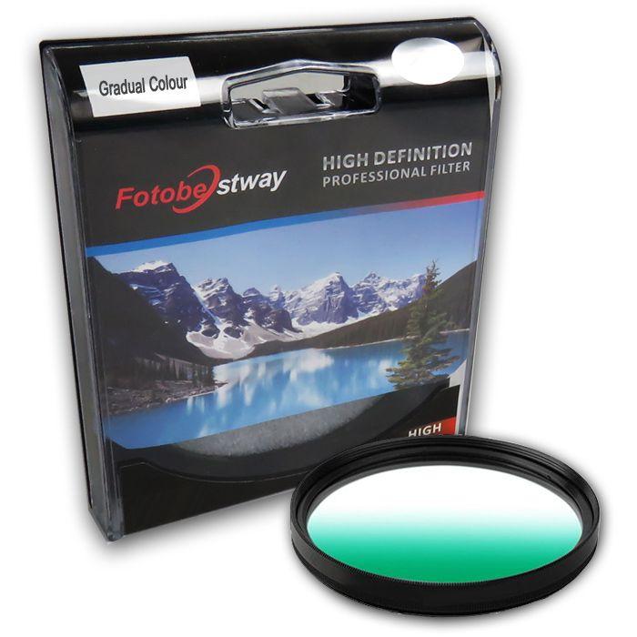 Filtro para Câmera Gradual Verde - Fotobestway 77mm  - Diafilme Materiais Fotográficos