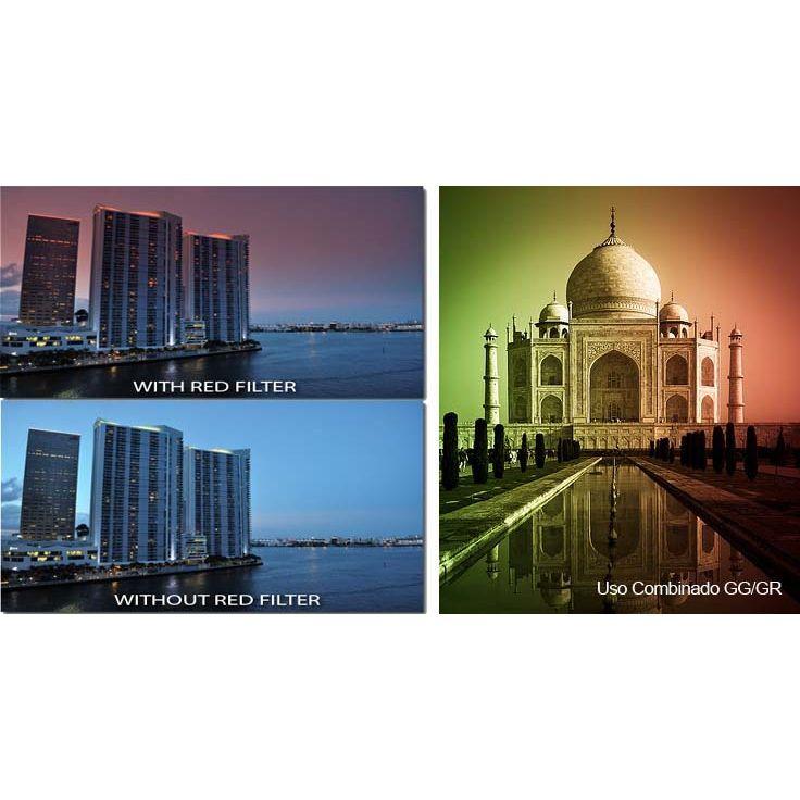 Filtro para Câmera Gradual Vermelho - Fotobestway 77mm  - Diafilme Materiais Fotográficos