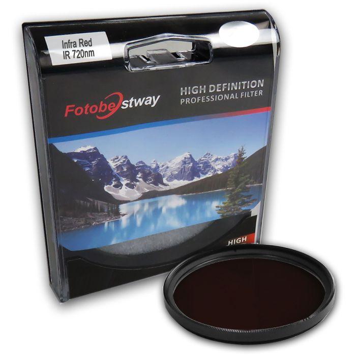 Filtro para Câmera Infra Vermelho IR 720 - Fotobestway 72mm  - Diafilme Materiais Fotográficos