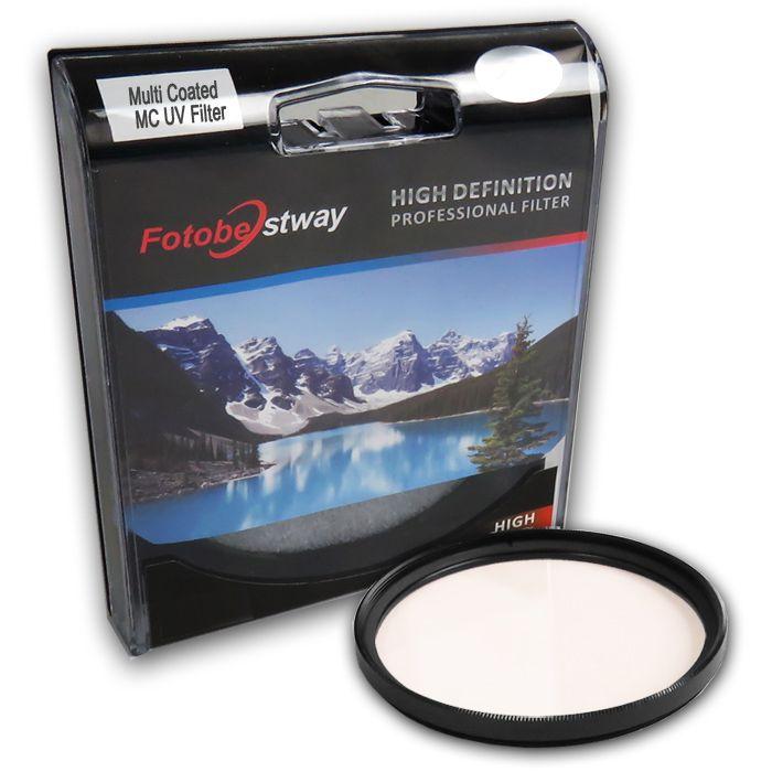 Filtro para Câmera Ultra Violeta UV - Fotobestway 62mm Multi Coated  - Diafilme Materiais Fotográficos