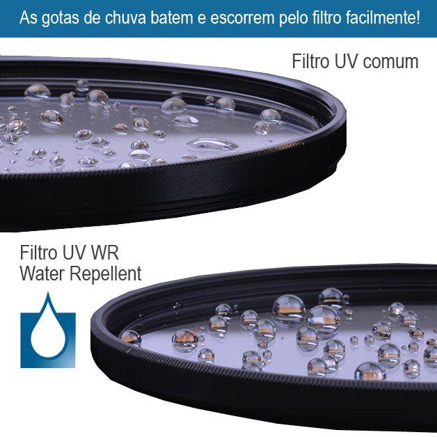 Filtro para Câmera Ultra Violeta UV - Fotobestway 67mm Water Repellent  - Diafilme Materiais Fotográficos