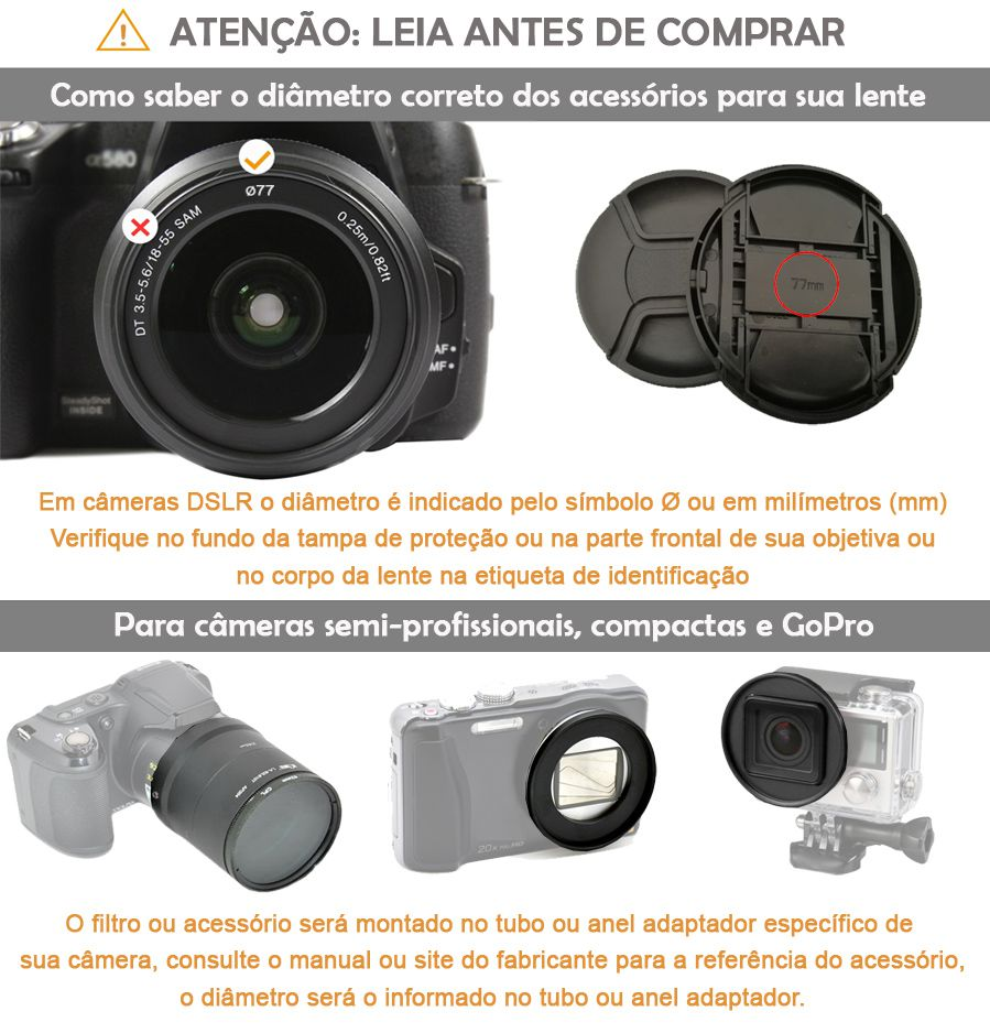 Filtro para Câmera Ultra Violeta UV - Serk 67mm  - Diafilme Materiais Fotográficos