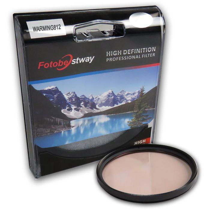 Filtro para Câmera Warming 812 - Fotobestway 58mm  - Diafilme Materiais Fotográficos