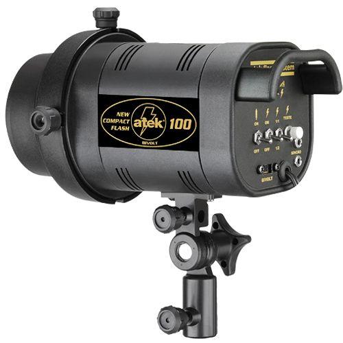 Flash para Estudio Fotográfico - Atek 100 Compact - 100W  - Diafilme Materiais Fotográficos
