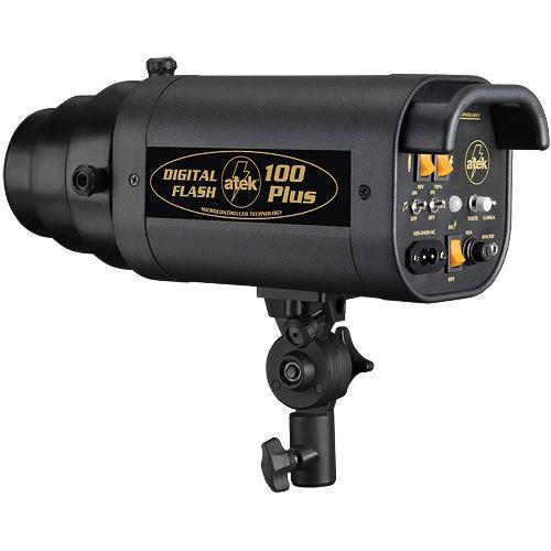 Flash para Estudio Fotográfico - Atek 100 Plus - 100W  - Diafilme Materiais Fotográficos