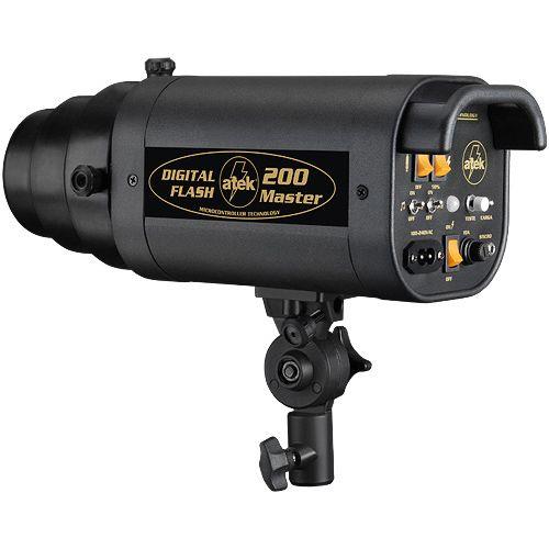 Flash para Estudio Fotográfico - Atek 200 Master - 200W  - Diafilme Materiais Fotográficos