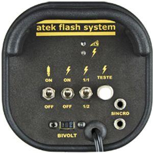 Flash para Estudio Fotográfico - Atek 350 Compact - 350W  - Diafilme Materiais Fotográficos