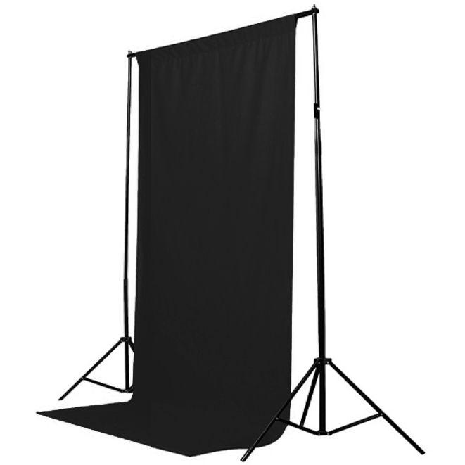 Fundo Fotografico de Tecido - Muslin Preto - 1,8x2,8m  - Diafilme Materiais Fotográficos