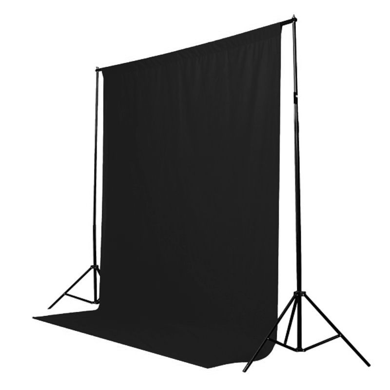 Fundo Fotográfico de Tecido - Muslin Preto - 6,0x3,0m  - Diafilme Materiais Fotográficos