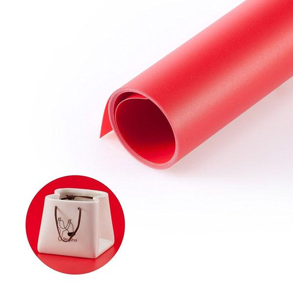 Fundo Infinito Fotografico Backdrop de PVC - Vermelho - 100x200 cm  - Diafilme Materiais Fotográficos