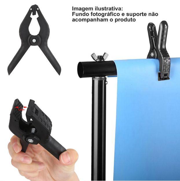 """Garra Pony Clamp 1"""" para Fundo Infinito - CL10 - 3,0cm  - Diafilme Materiais Fotográficos"""
