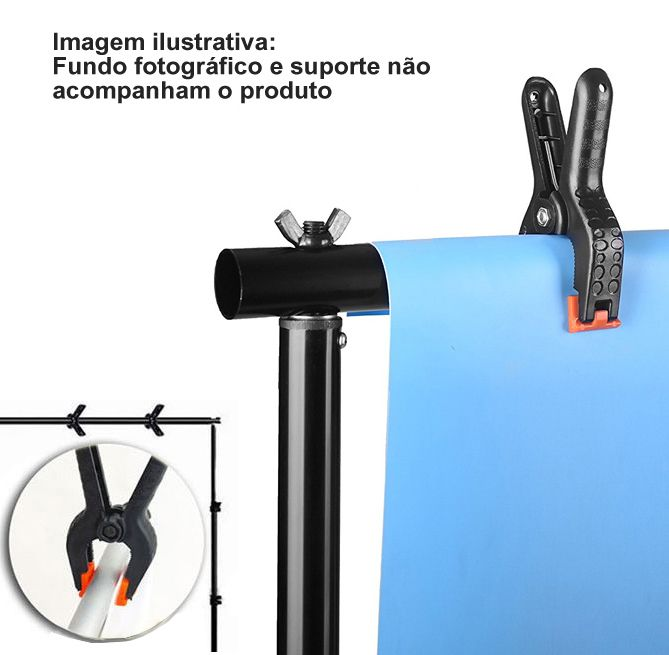 """Garra Pony Clamp 2"""" para Fundo Infinito - CL10M - 6,0cm  - Diafilme Materiais Fotográficos"""