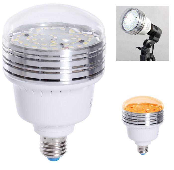 Iluminador de Estúdio Fotográfico Led tipo E27 - 36W  - Diafilme Materiais Fotográficos