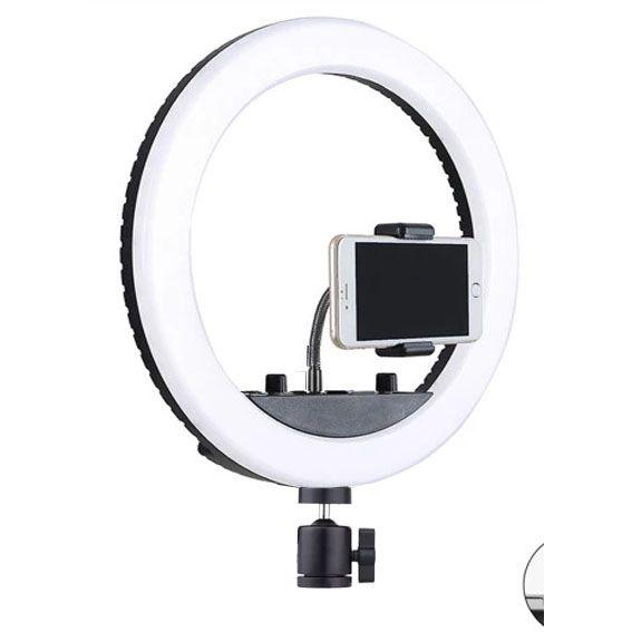 Iluminador Ring Led RL10A USB 26cm Controle Cor e Luminosidade com Tripé 2,0m  - Diafilme Materiais Fotográficos