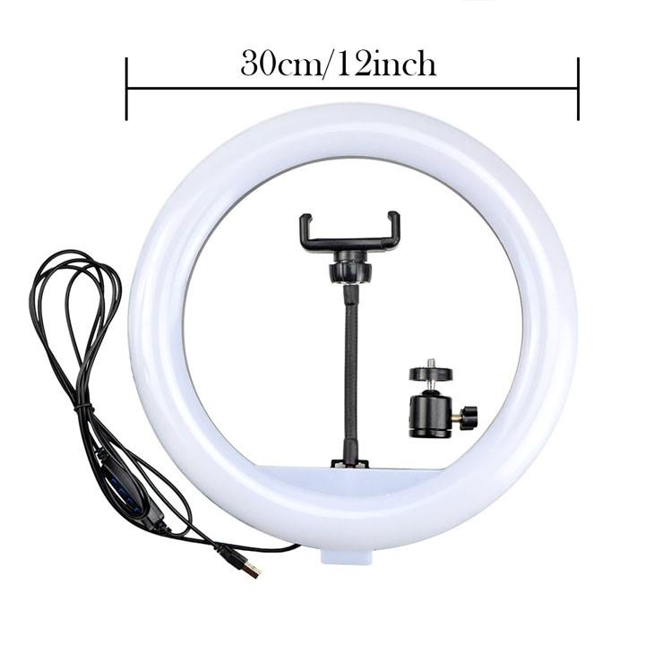 Iluminador Ring Led RL320B USB 30cm Controle Cor e Luminosidade com Tripé 2,0m  - Diafilme Materiais Fotográficos