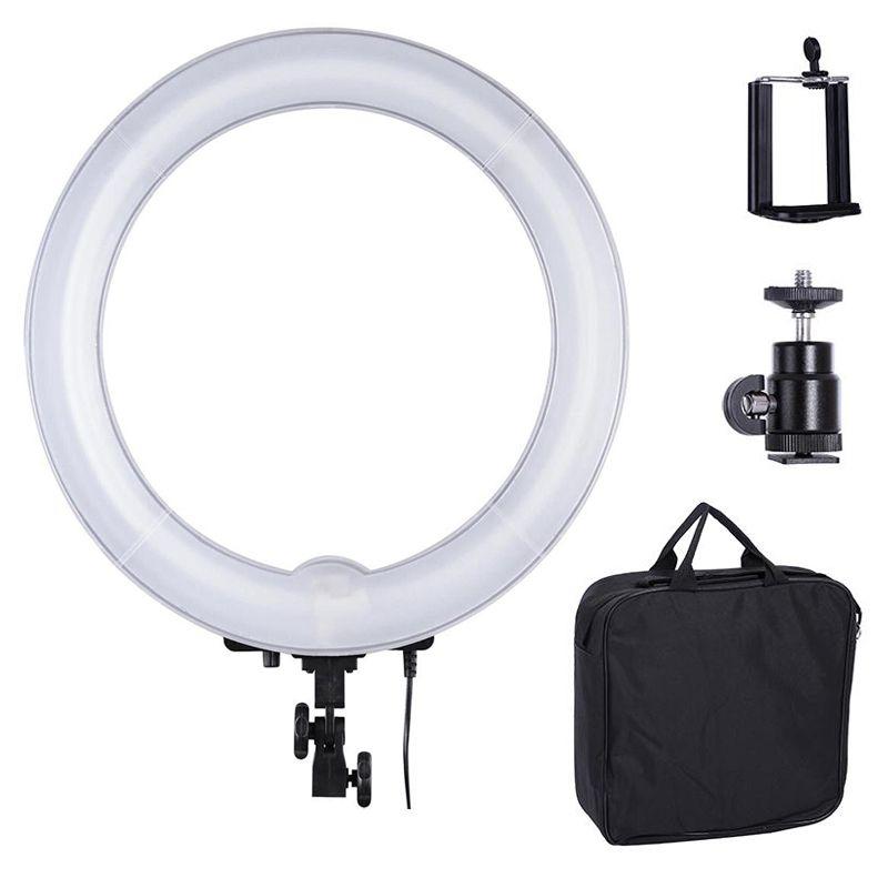Iluminador Ring Light Fluorescente - 35cm Controle Luminosidade  - Diafilme Materiais Fotográficos