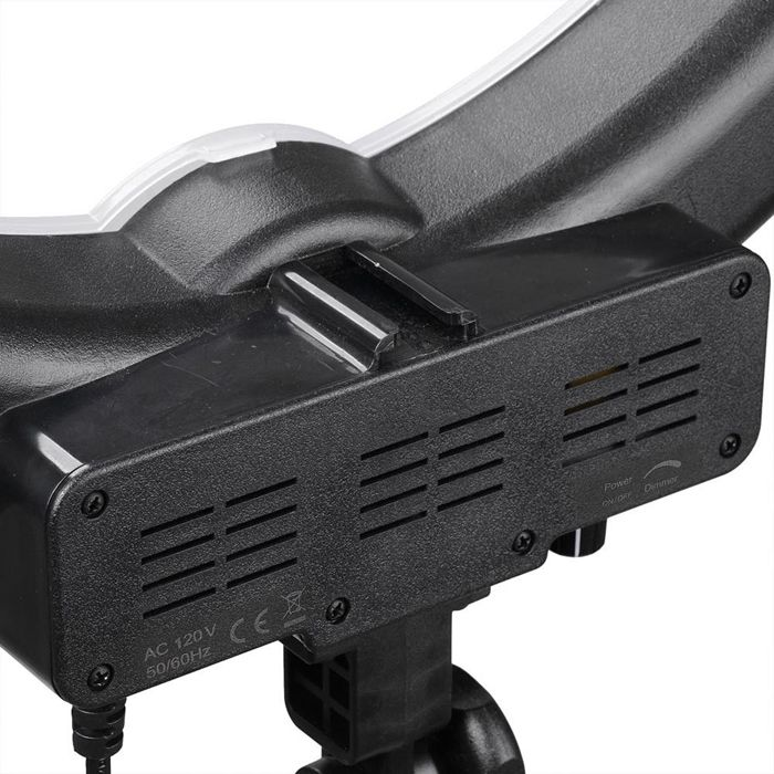 Iluminador Ring Light Fluorescente com Tripé - 35cm - Controle Luminosidade  - Diafilme Materiais Fotográficos