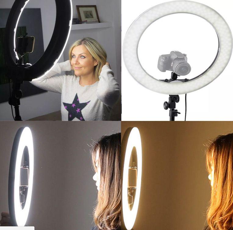 Iluminador Ring Light Led - 35cm - Controle de Cor e Luminosidade  - Diafilme Materiais Fotográficos
