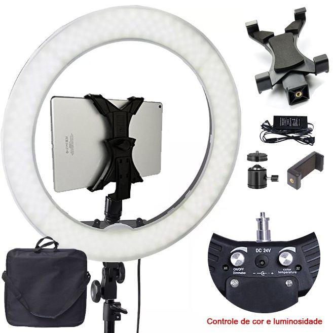 Iluminador Ring Light Led - 48cm 80W - Tablet DSLR Celular  - Diafilme Materiais Fotográficos