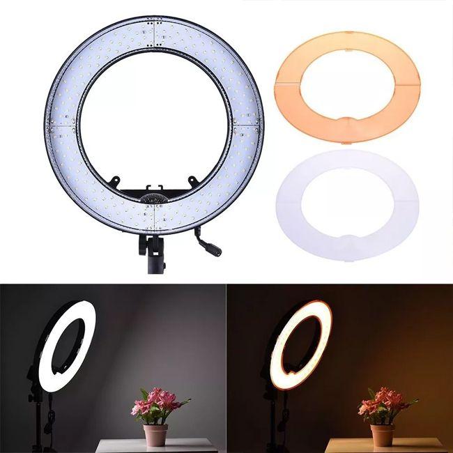 Iluminador Ring Light Led Com Difusor - 48cm 55W - Tablet DSLR Celular  - Diafilme Materiais Fotográficos