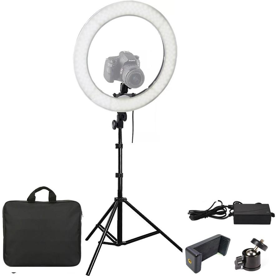 Iluminador Ring Light Led com Tripé - 35cm - Controle Cor Luminosidade  - Diafilme Materiais Fotográficos