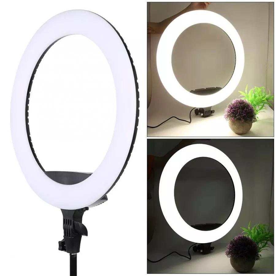 Iluminador Ring Light Led com Tripé - 45cm - BK416 TM13 Controle Cor Luminosidade  - Diafilme Materiais Fotográficos