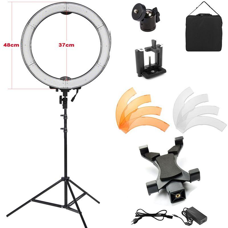 Iluminador Ring Light Led com Tripé - 48cm 55w - Tablet DSLR Celular  - Diafilme Materiais Fotográficos