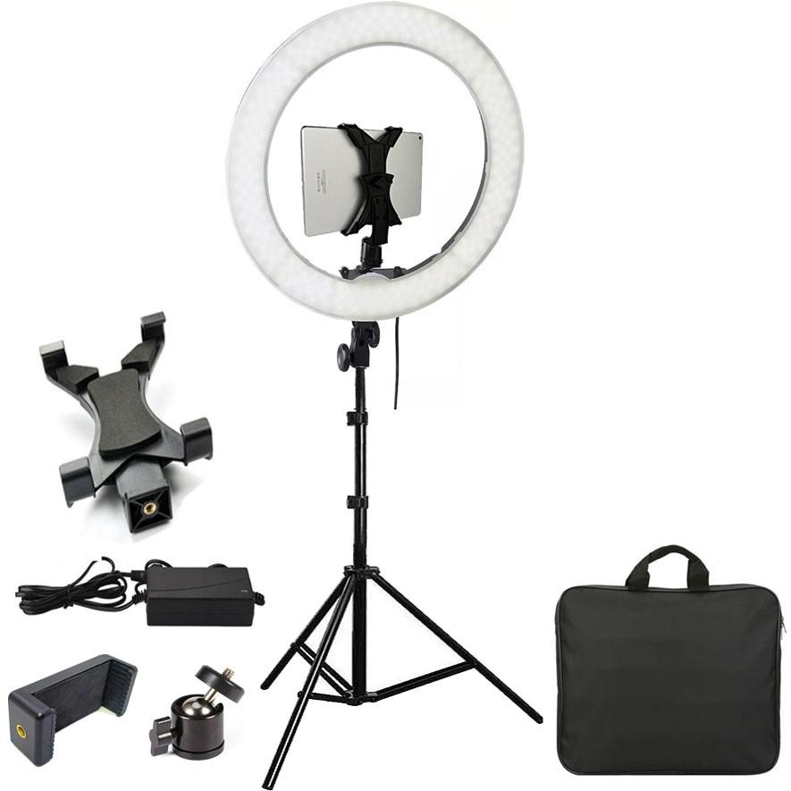 Iluminador Ring Light Led com Tripé - 48cm 80W - DSLR Tablet Celular  - Diafilme Materiais Fotográficos
