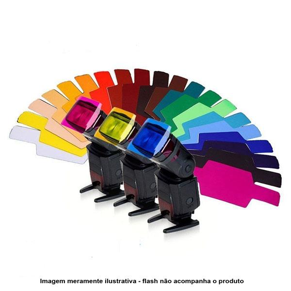 Kit de Filtros Coloridos para Flash Dedicado Speedlight  - Diafilme Materiais Fotográficos