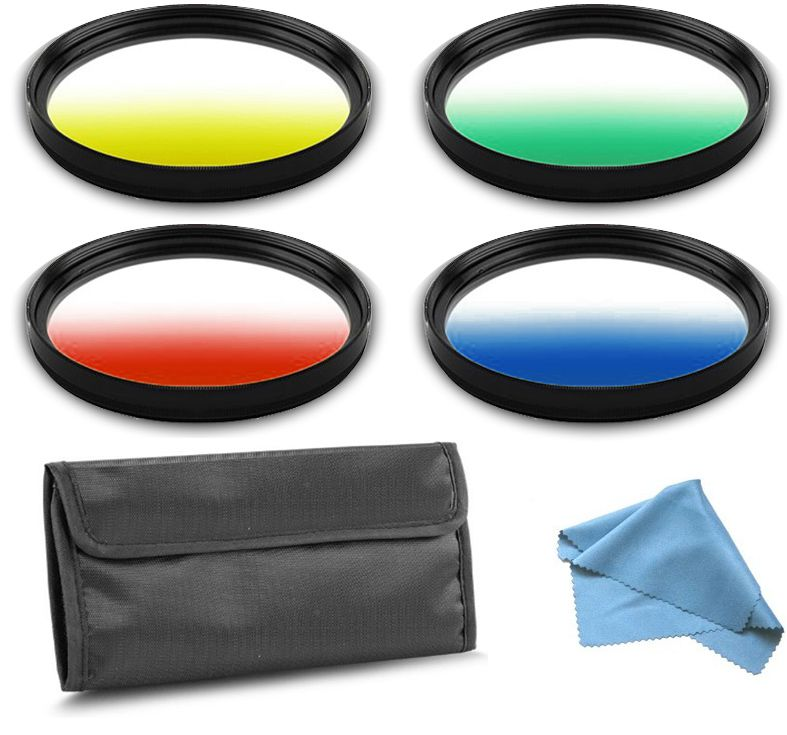 Kit Filtro para Câmera DSLR Gradual Colour - Fotobestway 58mm  - Diafilme Materiais Fotográficos
