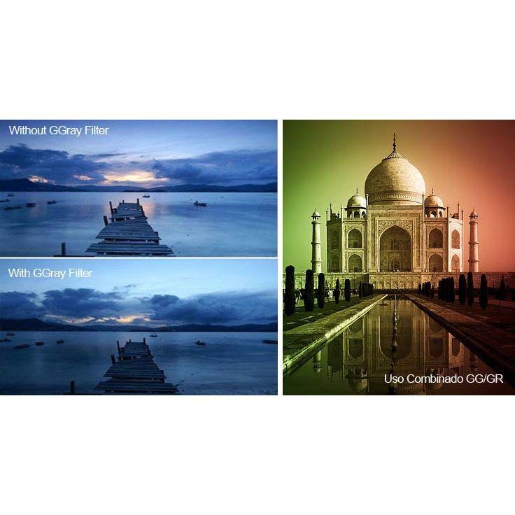Kit Filtro para Câmera DSLR Gradual Colour - Fotobestway 67mm  - Diafilme Materiais Fotográficos