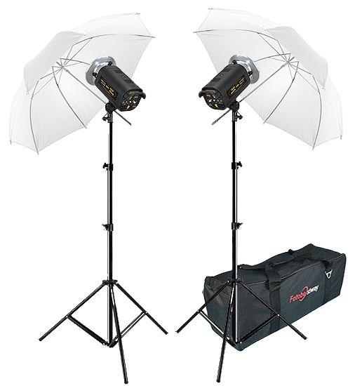 Kit Flash Estúdio Atek 2x100 Plus Tripé Sombrinha Difusora e Bag  - Diafilme Materiais Fotográficos