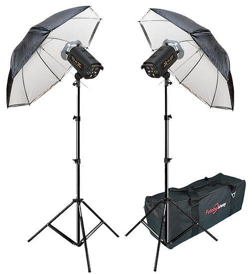 Kit Flash Estúdio Atek 2x100 Plus Tripé Sombrinha Reb Difusora e Bag  - Diafilme Materiais Fotográficos