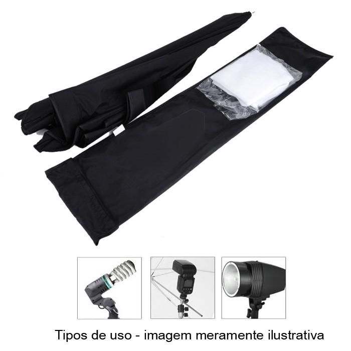Kit Flash Estudio Atek Compact 2x150W com Tripé e Softbox 60x90cm  - Diafilme Materiais Fotográficos